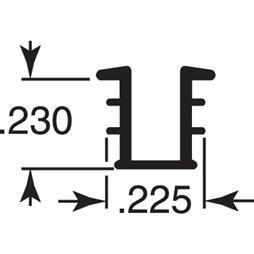 "Picture of P 8171 - Glass Retaining Spline, Glazing ""U"" Channel, Gray Vinyl, 100' per roll."