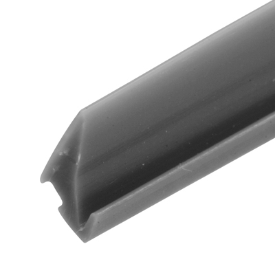 "Picture of P 8195 - Glazing Spline, Flexible Vinyl Push-in Bead, .110"" x .350"", Gray, 100' per roll."