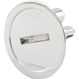"Picture of PH 17041 - Emergency Entry Knob, 1-1/4"" Dia, Diecast, Chrome Plated"