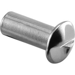 "Picture of PH 17050 - ""one Way"" Barrel Nut, 1/2"" Long, Brass, Chrome Plated"