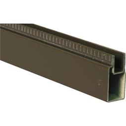 "Picture of PL 14156 - Aluminum Window Frame, 3/8""x25/32"", 94"" Long, .020 Gauge"