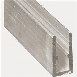"Picture of PL 14164 - 5/16"" Extruded Window Frame, 94"" Long, Mill Finish"