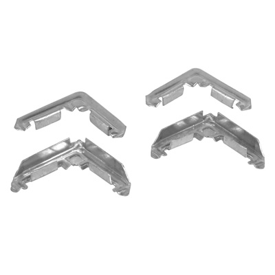 Picture of PL 14268 - Prime-Line Screen Frame Corners for 1/2 inch Lip Frame , Stamped Aluminum, 1 per box