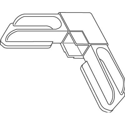 "Picture of PL 14312 - Prime-Line 3/8"" Aluminum Window Frame Corner; Molded Plastic, Gray finish, 2 per tub"