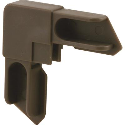 """Picture of PL 14313 - Prime-Line 3/8"""" Aluminum Window Frame Corner; Molded Plastic, Bronze finish, 2 per tub"""