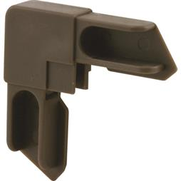 "Picture of PL 14313 - Prime-Line 3/8"" Aluminum Window Frame Corner; Molded Plastic, Bronze finish, 20 per tub"