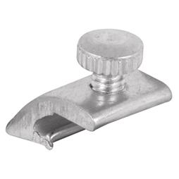 Picture of PL 14798 - Prime-Line 1/8 inch offset Storm Door Panel Clips,  Aluminum, Mill, 25 per tub