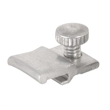 Picture of PL 14810 - Prime-Line Storm Door Panel Clips, 3/16 inch , Aluminum, Mill, 25 per tub with screw