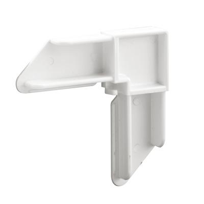 Picture of PL 14939 - Prime-Line 1 inch x 7/16 inch Kolbe Screen Corner, White, 2 per tub