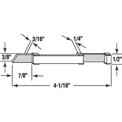 Picture of PL 15372 - Prime-Line Nylon Slide Bolts for Storm Windows, Left Hand, 20 per tub