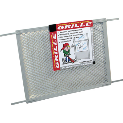 Picture of PL 15515 - Prime-Line Hinged Screen Door Grille, 34-1/2 inch, Molded Plastic, Gray