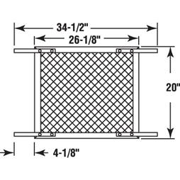 Picture of PL 16215 - Sliding Patio Door Replacement Track, 72 inches, Extruded Aluminum, 12 Pack