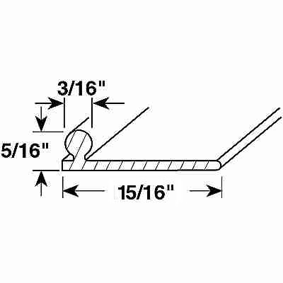 Picture of PL 16217 - Sliding Screen Door Track, 6', Aluminum, White
