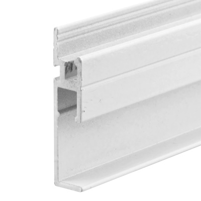 """Picture of PL 15973 - DROP-IN 3T BOTTOM WNDW FRME 72"""" WHITE 6/BX"""