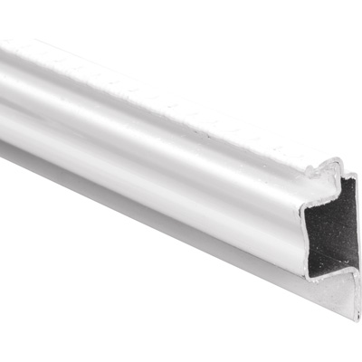 Picture of PL 16364 - Prime-Line 5/16 inch Lip frame, Roll Formed Aluminum, .025, White, 94 inch long