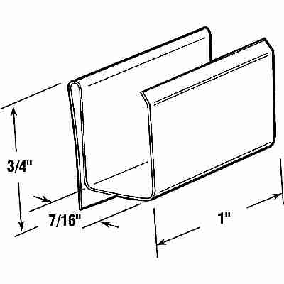 Picture of PL 15542 - Prime-Line Screen Retainer Clips, 7/16 inch, Spring Steel, 25 per tub