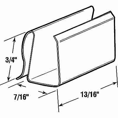 Picture of PL 15544 - Prime-Line Screen Retainer Clips, 7/16 inch, Black Vinyl, 25 per tub