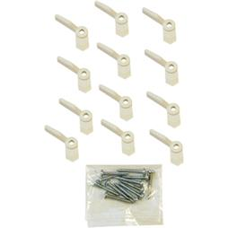 Picture of PL 7920 - Prime-Line Turn Buttons, 1/16 inch, Plastic, White, 12 Buttons w/Screws