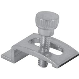 Picture of PL 7939 - Prime-Line Storm Door Panel Clips, 1/4 inch , Aluminum, Mill, 8 per card