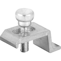 Picture of PL 7941 - Prime-Line 3/8 inch offset Storm Door Panel Clips,  Aluminum, Mill, 8 per card