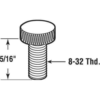 Picture of PL 7943 - Prime-Line 5/16 inch Storm Clip Thumbscrews, Aluminum, 8 per card