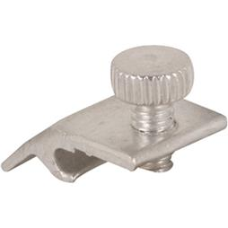 Picture of PL 7951 - Prime-Line Storm Door Panel Clips, 3/16 inch , Aluminum, Mill, 8 per card with screw