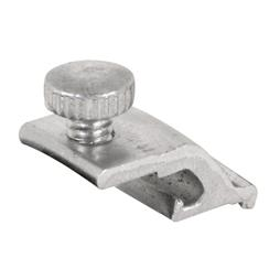 Picture of PL 7953 - Prime-Line 1/4 inch offset Storm Door Panel Clips,  Aluminum, Mill, 8 per card