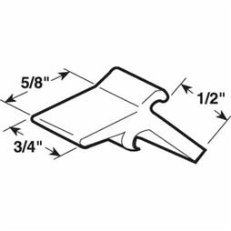 Picture of PL 14825 - Prime-Line 1/2 inch offset Storm Door Panel Clips, Plastic, White, 25 per tub
