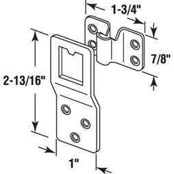 """Picture of PL 14725 - Screen Top Hanger, 1"""", Steel, Zinc Plated, 25 Sets"""