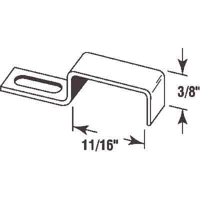 Picture of PL 15738 - Prime-Line Screen Stretch Clips,  11/16 inch, Aluminum, Qty: 25 w/Screws