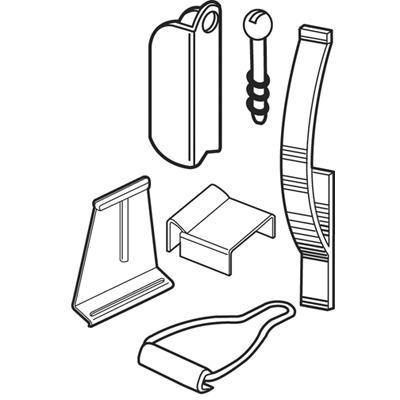 Picture of PL 8141 - Prime-Line Screen Hanger Kit, Mixed Materials, Mill Finish
