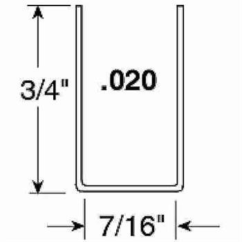 Picture of PL 14145 - Prime-Line 7/16 inch U-shaped Screen Adjustment channel, Gray, 72 inches long