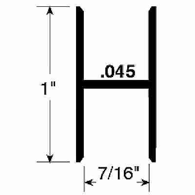 Picture of PL 14146 - Prime-Line H-Section Screen Frame Connector, Extruded Aluminum, Gray, 72 inches long