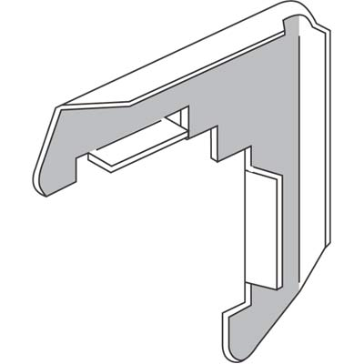 """Picture of PL 14255 - Screen Frame Corners, .060 Gauge x 1"""", H.D. Aluminum, Mill"""