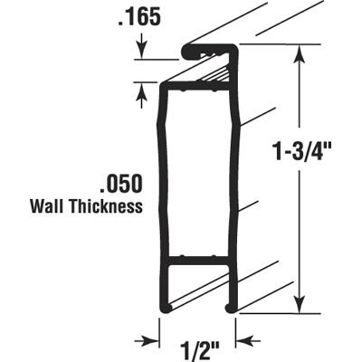 Picture of PL 14376 - Prime-Line 31x81 Ultimate I Aluminum Sliding Screen Door Kit, 1-3/4 inch, White