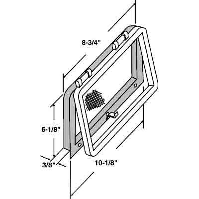 Picture of PL 14699 - Prime-Line Screen Wicket for Casement Windows, Bronze Plastic