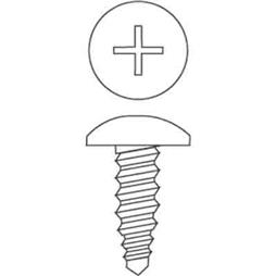 "Picture of PL 14727 - Sheet Metal Screws, #8 x 1/2"", Zinc, Mill Finish, 100 Pcs."