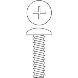 "Picture of PL 14731 - Machine Screws, #10-24 x 5/8"", Zinc, 100 Pcs."