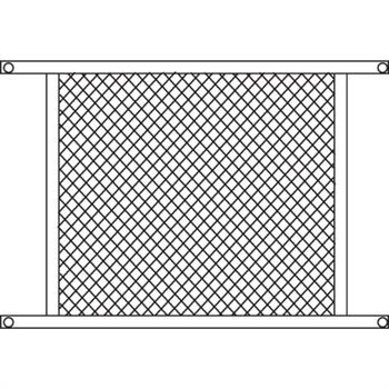 PL 15942 - Prime-Line Sliding Screen Door Grille, 48 inch, Aluminum