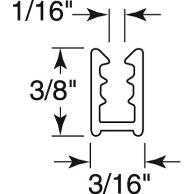 """Picture of PL 15966 - 3/16"""" X 3/8"""" VINYL WNDW FRME 72"""" WHTE 25/BX"""