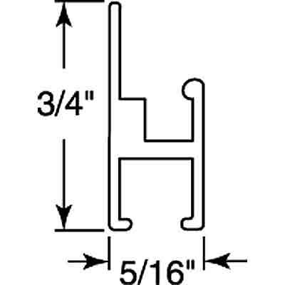 "Picture of PL 16411 - DROP-IN 3T SIDE & TOP WNDW FRME 94"" MILL 12/BX"