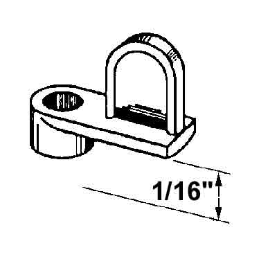 Picture of PL 14412 - Prime-Line 1/16 inch Window Screen Clip, Die-cast alloy, Mill