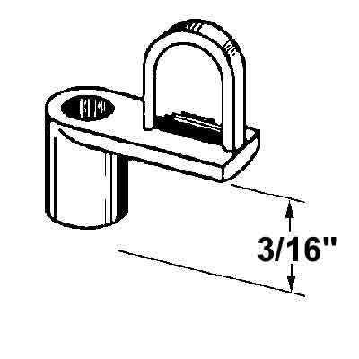 Picture of PL 14436 - Prime-Line 3/16 inch Window Screen Clip, Die-cast alloy, Mill