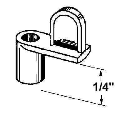 Picture of PL 14448 - Prime-Line 1/4 inch Window Screen Clip, Die-cast alloy, Mill