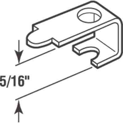 Picture of PL 14600 - Prime-Line Casement Screen Clips, 5/16 inch, Aluminum, 25 Clips w/Screws