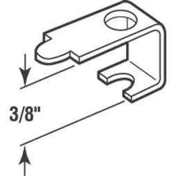 Picture of PL 14603 - Prime-Line Casement Screen Clips, 3/8 inch, Aluminum, 25 Clips w/Screws