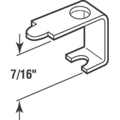 Picture of PL 14606 - Prime-Line Casement Screen Clips, 7/16 inch, Aluminum, 25 Clips w/Screws