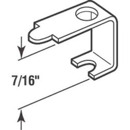 Picture of PL 14606 - Prime-Line Casement Screen Clips, 7/16 inch, Aluminum, 25 Clips w/Screws
