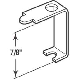 Picture of PL 7747 - Prime-Line Casement Screen Clips, 7/8 inch, Aluminum, 12 Clips w/Screws