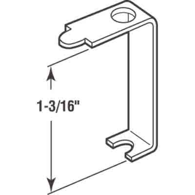 Picture of PL 7748 - Prime-Line Casement Screen Clips, 1-3/16 inch, Aluminum, 12 Clips w/Screws